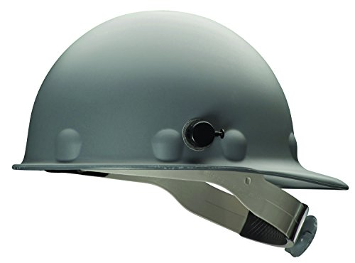 Fibre-Metal by Honeywell P2HNQRW09A000 Super Eight Fiber Glass Ratchet Cap Style Hard Hat with Quick-Lok, Grey