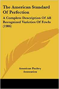 American standard of perfection poultry book