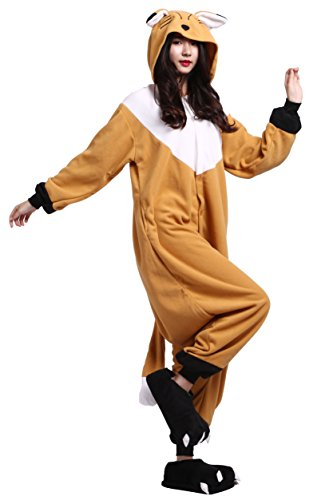 Unisex Orange Kigurumi Adulto Pigiama Animale Fox Onesies rXrqZ