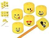 (24) 1.5'' Emoji Pencil And Crayon Sharpeners ~ CUTE, FUN AND POPULAR ~