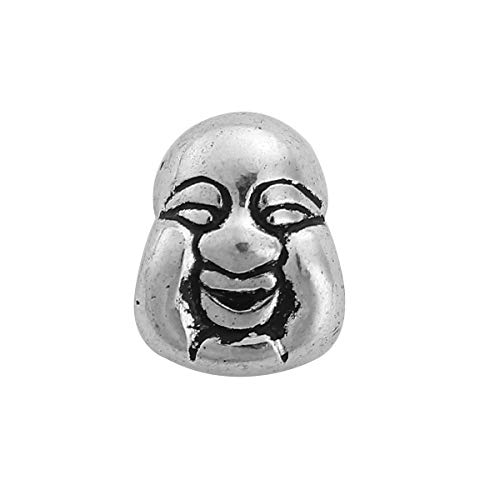 """PEPPERLONELY 50pc Antiqued Silver Alloy Beads Buddha Charms Pendants 10 x7.7mm(3/8"""" x 2/8"""")"""