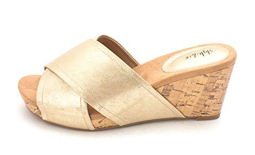 Style & Co. Womens Jillee Open Toe Casual Platform Sandals, Light Gold, Size 6.5 ()
