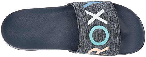 Roxy Damen Slippy Textil Slide Sport Sandale Marine