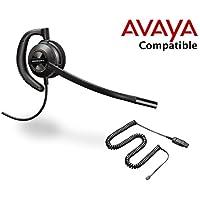 Avaya Compatible Plantronics EncorePro 530 HW530 Noise Canceling Headset Bundle | Avaya VoIP 1600, 9600 IP Phones: 1608, 1616, 9601, 9608, 9610, 9611, 9611G, 9620, 9620C, 9620L, 9621, 9630, 9640, 9640G, 9641, 9650, 9650C, 9670