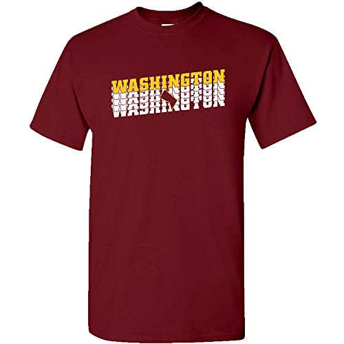 Washington DC Retro Repeat - Sports Team City Pride Tailgating T Shirt - 2X-Large - Garnet