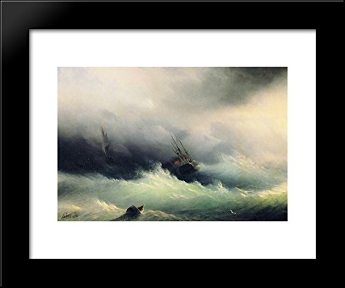Ships in a Storm 20x24 Framed Art Print - Ship In Storm Art