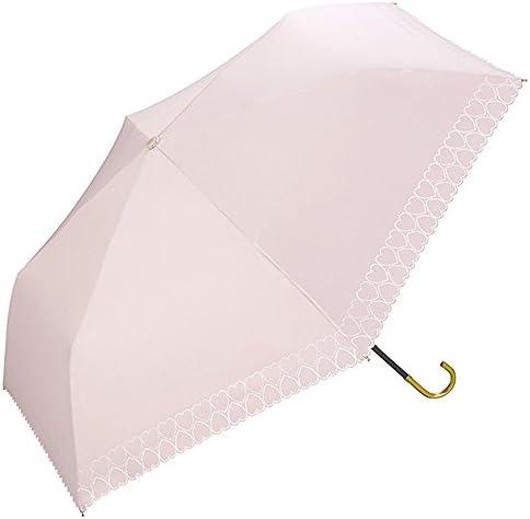 ワールドパーティー(Wpc.) 日傘 折りたたみ傘  ピンク  50cm  レディース 傘袋付き 遮光ハートヒートカット ミニ 801-163 PK