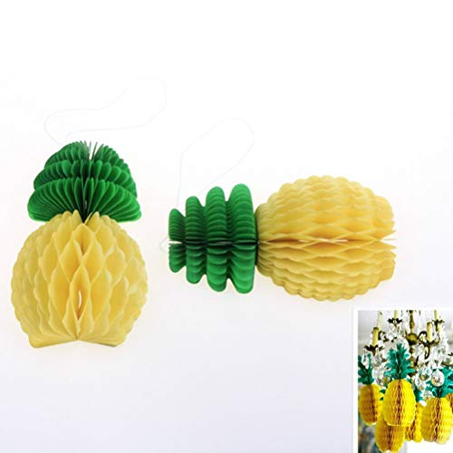 Party Diy Decorations - Creative Pineapple Honeycomb Fruit Tissue Paper Decoration Shower Favor Party Supplie 5pcs 20cm 4 - Decorations Party Party Decorations Honeycomb Pineapple Chicken (Hawaiian Chicken Pineapple)