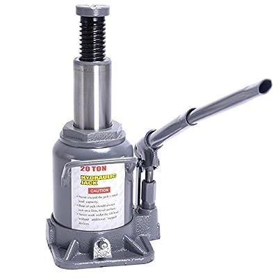 20 TON Hydraulic Bottle Jack Low Profile Automotive Shop Axle Jack Hoist Lift TKT-11