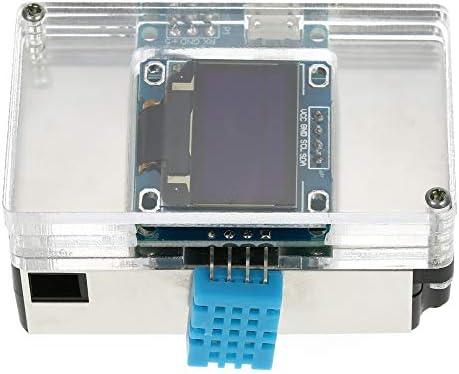 DYHM Sensor de Calidad del Aire DIY PM2.5 Detector Medio Ambiente Kit Medidor de Calidad del Aire Analizador de Gas con Estuche Transparente Termómetro casero Detector de Aire #RT789: Amazon.es: Hogar