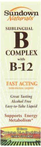 Sundown vitamine B12 par voie sublinguale Complexe liquide, 2 Oz