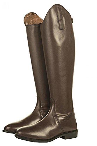 HKM in pelle stivali da equitazione Italy Soft Uomo, Corta/lontano marrone