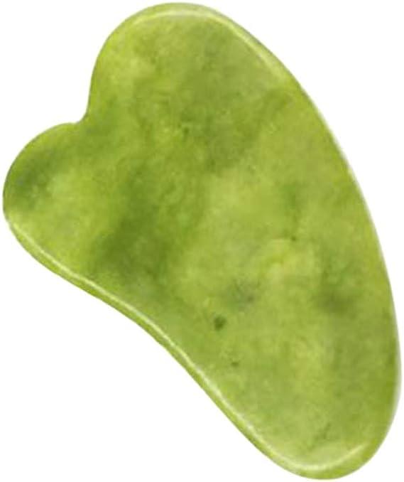 Andoer Placa de Gua Sha Jade Stone Guasha Ferramenta de massagem raspadora Massageador facial para rosto olhos, pescoço, corpo, levantamento e aperto da pele