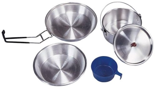 Stansport Mess Kit Extra Heavy Duty Alulminum-Polished ()