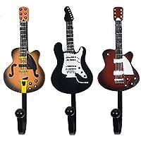 KUNGYO Vintage gitaarvormige decoratieve haken Rekhangers