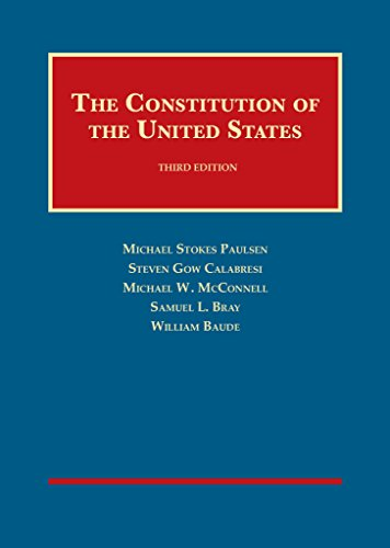1634599381 - The Constitution of the United States (University Casebook Series)