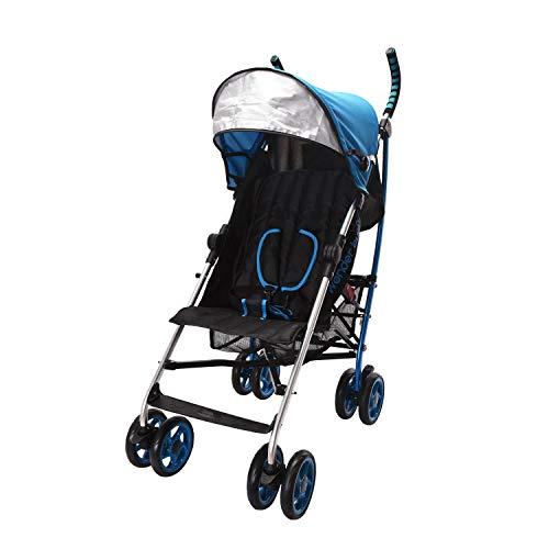 Wonder buggy Baby Stroller Lightweight All Town Rider Four Position Stroller with Sun Visor, Blue