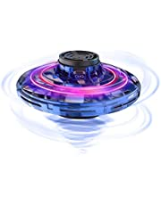 FlyNova Flying Spinner, 2020 Upgraded The Most Tricked-out Hand Drones for Kids Adults, Hand Operated Drone with 360° Rotation and RGB Lights, Mini Drone Interactive Toys for Boys or Girls (Blue)