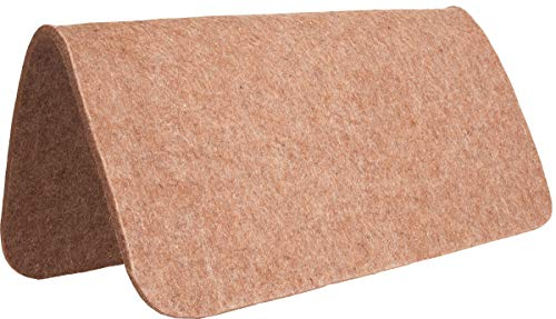 Mustang Square Wool Pad Liner 30Inx30In Tan