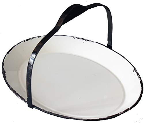 Oval Enamel Tray with Handle (Ghd Oval)