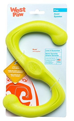 West Paw Zogoflex Bumi Interactive Tug of War Durable Dog Play Toy, 100% Guaranteed Tough, It Floats!, Made in USA, Small, Granny Smith