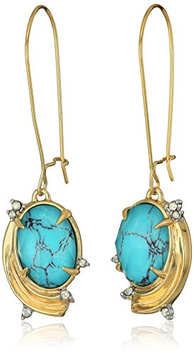Alexis Bittar Crystal Studded Golden Array Infinity Wire Drop Earrings
