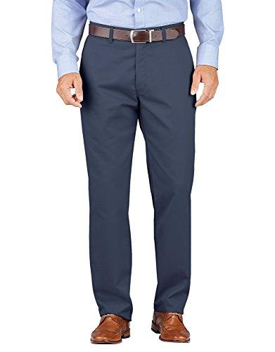 Dickies Men's Khaki Relaxed Fit Tapered Leg Comfort Waist Pants, Rinsed Dark Navy, 48 ()
