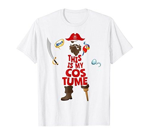 Pirate Costume Parrot Peg Leg Beard Argh Halloween T-Shirt ()