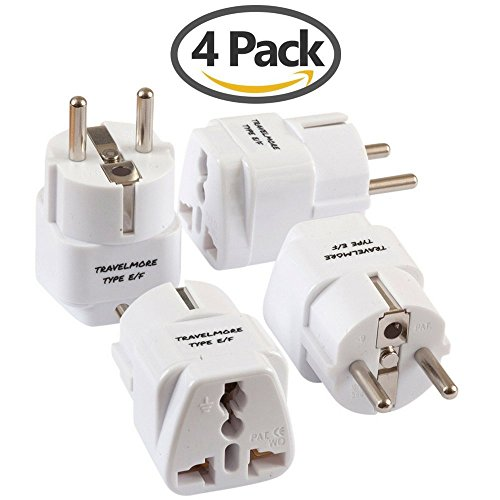 Pack European Travel Adapter Outlets