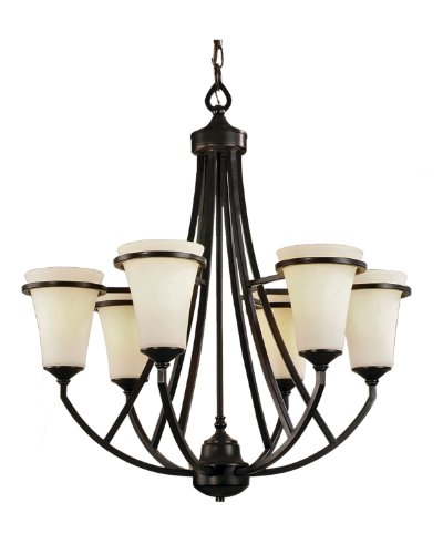 Marquis Lighting 9706-ABZ-111 Chandeliers with Satin Opal Glass Shades, Antique Bronze