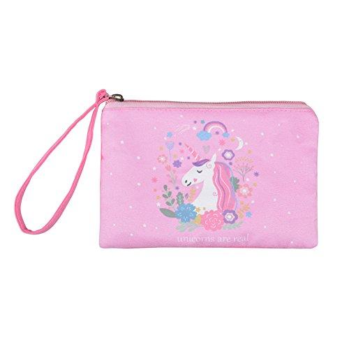 (Rantanto Cute Canvas Cash Coin Purse, Make Up Bag, Cellphone Bag With Handle (BG0010 Unicorn))