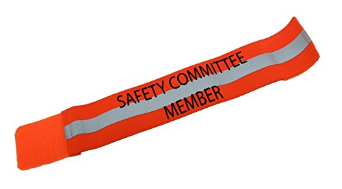 RUseeN Reflective Safety Committee Member Arm Leg Band (Orange)