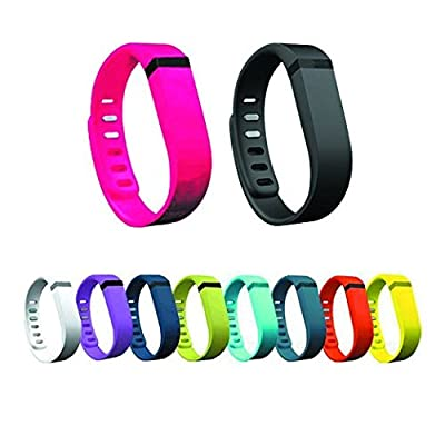 Replacement Wrist Band with Metal Clasp for Fitbit Flex 10 Colors Bands (L Size) 10park #Code001