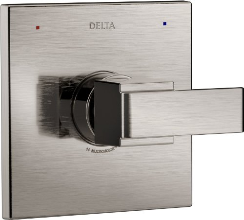 Delta Faucet Ara 14 Series Single-Function Shower Handle Valve Trim Kit, Stainless T14067-SS (Valve Not Included) ()