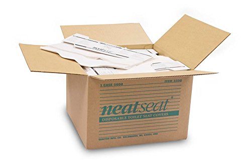 NeatSeat: Full Case (125 seat covers per pad, 40 pads per box) by Sanitor (Image #1)