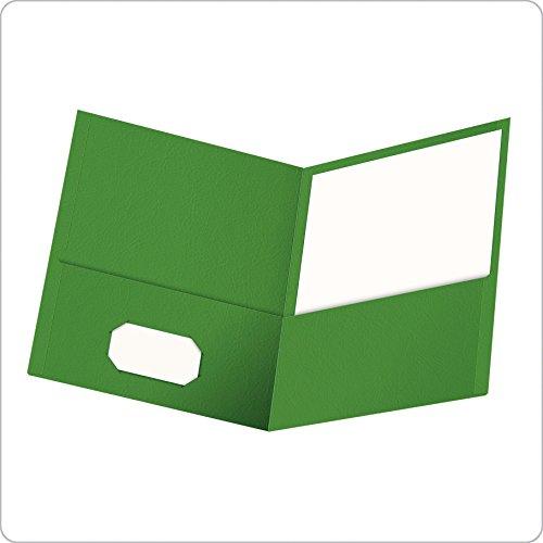 Oxford Twin Pocket Folders, Letter Size, Green, 25 per Box (57503EE)