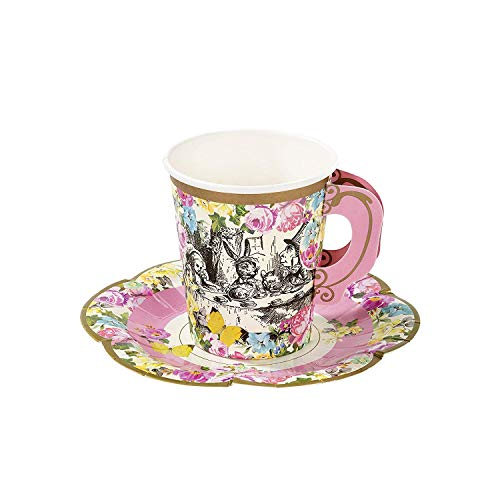 Talking Tables Alice In Wonderland Tea Cups And Saucer Sets Mad Hatter Tea Party -