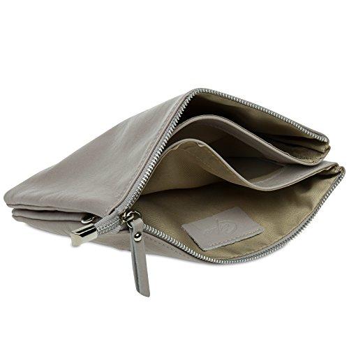 en véritable sac enveloppe femme CASPAR cuir pour Nude souple Clutch nappa de TL771 Pochette soirée 4qxWvWwRpz