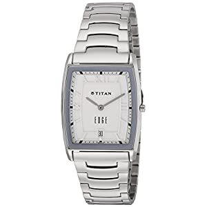 Titan Edge Analog Silver Dial Men's Watch-NK1684SM01 / NK1684SM01
