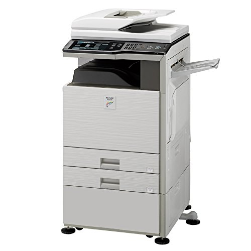 Refurbished Sharp MX-2600 Tabloid-size Color Multifunction Printer – Copy, Print, Scan, Document Filing, 2 Paper Trays, Cabinet, Auto Duplex, RSPF, 80 GB HDD, 26 ppm