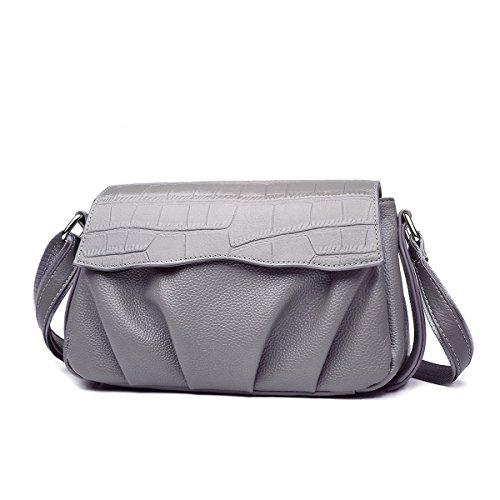 Mena UK-Donne Pelle artificiale semplice casuale coccodrillo Sacchetto di spalla / messaggero / borsa / Borsa a tracolla