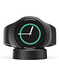 MoKo Gear S2 Qi Wireless Charging Dock, Replacement Charger Charging Cradle for Samsung Gear S2 / Gear S2 Classic SM-R732 / SM-R730 / SM-R720 / Moto360 2nd Gen Smartwatch, with Micro USB Cable, BLACK