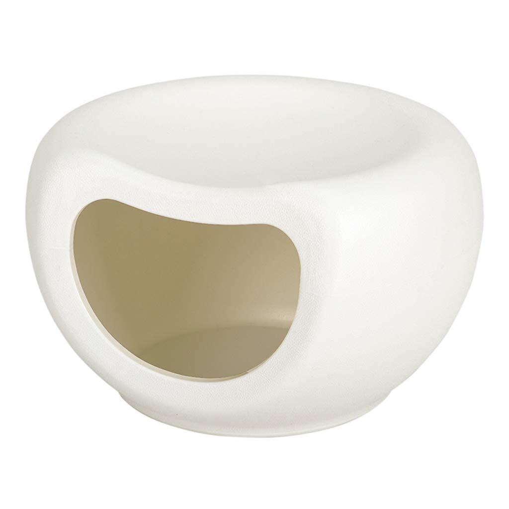 KTYX Cat's Nest Semi-Closed Cat Bed (White) 48 X 42 X 29CM Pet Bed