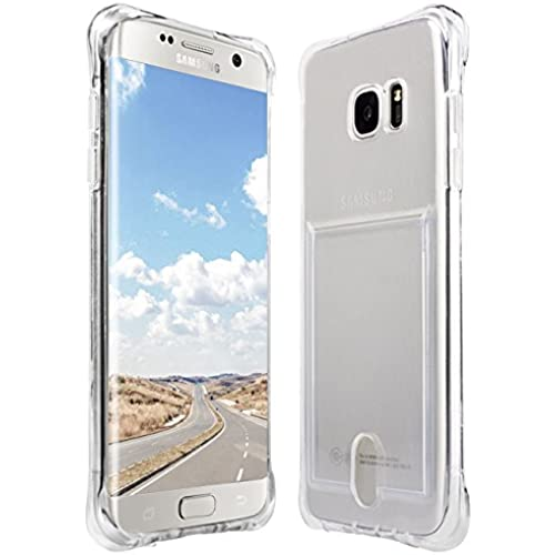Taken Galaxy S7 Edge Case - Clear Silicone TPU Transparent Card Slot Wallet Case for Samsung Galaxy S7 Edge (Clear) Sales
