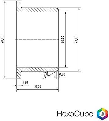 8 x igus ® Rodamiento con brida - iglidur® Ø20mm GFM-2023-16 ...