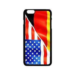 Cheap phone case, USA mixed Germany flag pattern for black plastic iphone 6 case (4.7 inch)
