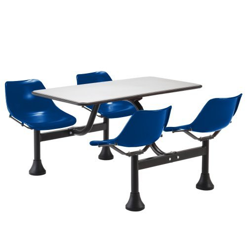 30' Lunchroom Table - OFM 30'' x 48' Cluster Lunchroom Table with Chairs Yellow Steel Chairs/Stainless Steel Table Top/Black Base