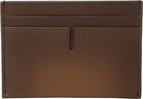TUMI - Nassau Slim Card Case Wallet with RFID ID Lock for Men - Whiskey Burnished ()