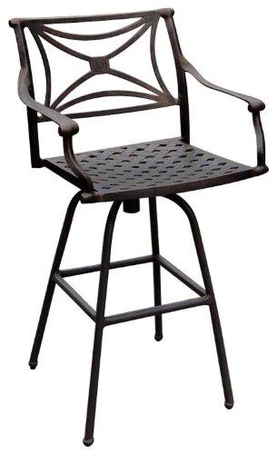 ATC Design Director Antique Bronze Solid Cast Aluminum Barstool (Pack of 2)