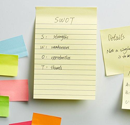 AmazonBasics Lined Sticky Notes - 4